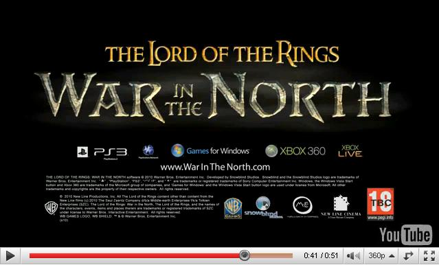 Lord Of The Rings War In The North Trailer